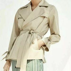 Massimo Dutti Classic Tan Trench Coat